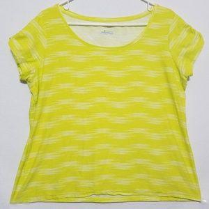 2/$30 Columbia Women's XL Green / Yellow Top Shirt